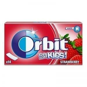 ДЪВКИ-ORBIT-FOR-KIDS-STRAWBERRY-ЛЕНТИ-14БР