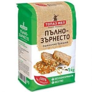 БРАШНО ТОПАЗ МЕЛ ПЪЛНОЗЪРНЕСТО 1КГ